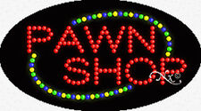 "NEW ""PAWN SHOP"" 27x15x1 OVAL SOLID/ANIMATED LED SIGN w/CUSTOM OPTIONS 24117"
