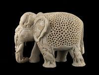 Soprammobile Elefante IN Pierre-2kg500-Top Qualità- India-Pietra Intaglio- 1498