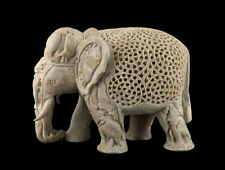 -statue Elefant IN Pierre-2kg500-Top Qualität- Indien-Stein Carving- 1498