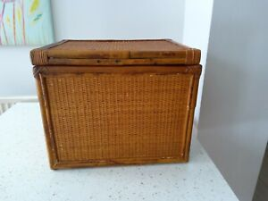 Bamboo Box Small Chest  late 70s to early 80s