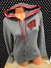 Victoria's Secret Pink Pullover Wisconsin Bling Full Zip Hoodie Small New v11