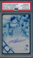 2016 Topps Chrome Kyle Schwarber Rookie Auto Cyan Print Plate #1/1 PSA Auto 10