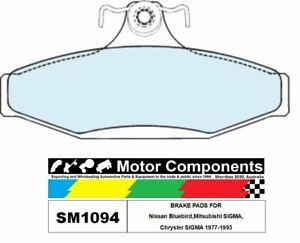 BRAKE PADS SM1094 TO SUIT Nissan Bluebird,MitsubishI SIGMA, Chrysler SIGMA 1977-