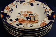 Myott Sons & Co IMARI six fruit bowls circa 1920's