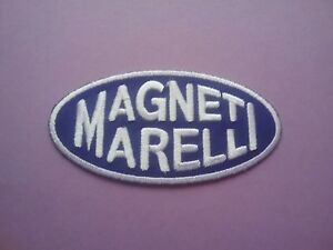 MAGNETI MARELLI PATCH:- SEW or IRON ON:- MOTOR RACING OILS FUELS & TYRES
