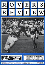 1989/90 Raith Rovers v Airdrie, Division 1, PERFECT CONDITION