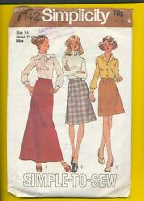 SIMPLICITY 7442 - SIZE 14 - SKIRT IN THREE LENGTHS - CUT - COMPLETE