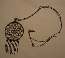 Bronze-Colored Obey Clothing Dreamcatcher Necklace Pendant Dream Catcher
