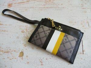 """L.A.M.B by Gwen Stefani Wristlet Wallet striped  signature 6 x 4"""""""