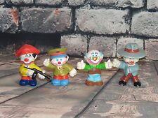 "Clown Around Lot of 4 Clown Figures Vintage 2"" PVC Mego 1981"