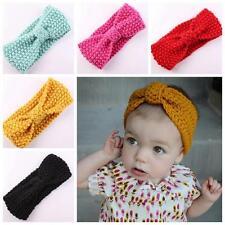 Infant Crochet Ear Warmer Knot Bow Knit Headband Turban Hair Band