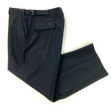 Ralph Lauren Purple Label Men's 100% Wool Flat Front Dress Pants Black • 36x30
