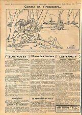 Humour Caricature Poilus Feldgrauen Bataille la Marne Maurice Sauvayre  WWI 1915