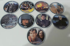 JAMES BOND : TOMORROW NEVER DIES HEINEKEN SET OF 9 METAL DRINK COASTERS (TK)