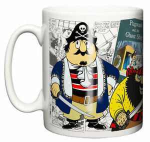 Dirty Fingers Mug, Captain Pugwash TV series 1950's Retro Gift