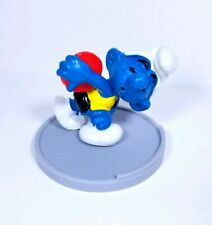Vintage Smurf Figure OLYMPIC DISCUS 1979 Rare Schleich Disc Thrower