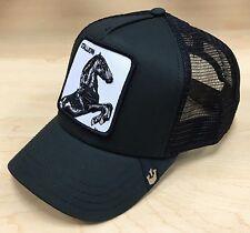 Goorin Bros Stallion Animal Farm Patch Black Trucker Hat Cap