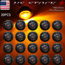 "20X Smoked 3/4""Round LED Clearance Side Marker Light For Truck Trailer RV Amber"