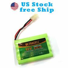 12V 1300mAh NI-MH Rechargeable Battery Pack Ultracell Tamiya Plug US Free Ship