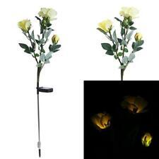 Solar LED Rose Flower Lights Garden Outdoor Landscape Rose Light Decorative #JT1