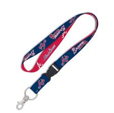 ATLANTA BRAVES LANYARD DETACHABLE BUCKLE BRAND NEW FREE SHIPPING WINCRAFT