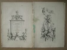TORO : Suite de 6 gravures (sur 12) trophées / arabesques, 1716.