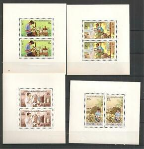 Sc. 283-86 VF MNH Souvenir Sheets of 2  Perforated
