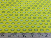 "Heather Bailey Bijoux Mod Beads Yellow Free Spirit 100% Cotton Fabric 44"" W BTY"