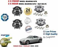 FOR NISSAN 350Z Z33 3.5 FAIRLADY V6 2003-> 2X FRONT + 2X REAR WHEEL BEARING KITS