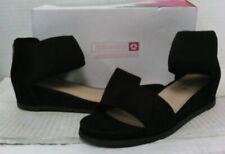 Steven by Steve Madden Women's Evie Ankle Strap Slide Sandals sz 7 Black $125