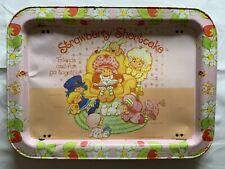 Vintage 1981 Strawberry Shortcake Metal TV Tray