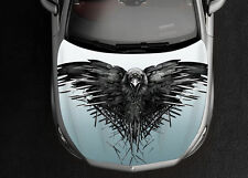 Game Of Thrones Crow Black Car Hood Wrap Color Vinyl Sticker Decal Fit Any Car