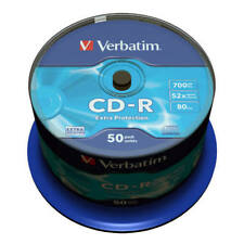 CD-R 52x 700MB Verbatim Extra Protection Tarrina 50 uds