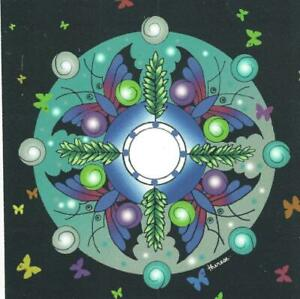 "Butterfly Mandala Framed Print Sister Therese Carondelet Artists 8""x10"" Symbol"