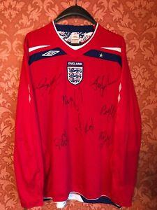 RARE England 2008-2010 away football national team jersey longsleeve size XL