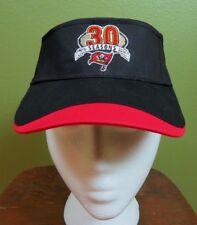 30 Years Tampa Bay Mens Cap Hat Black & Red Adjustable Sun Visor