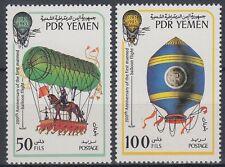 Yemen PDR 1983 ** Mi.336/37 Luftfahrt Ballons Balloon flight Montgolfiere