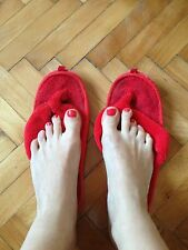 PANTOFOLE infradito usattisime n 37 well worn flat shoes