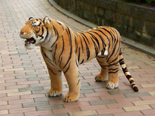 simulation yellow tiger toy huge plush tiger doll about 112x72cm
