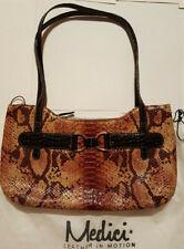 Medici Damen Abendtasche Reptilprägung Vintage Handtasche