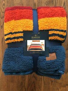 "Pendleton Sherpa Fleece Grand Canyon Multi Color King Blanket (112""x92"")"