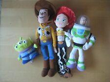 Lot of 4  Vintage DISNEY  Pixar Toy Story WOODY, JESSIE, BUZZ, ALIEN PLUSH