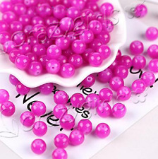 60pcs Imitation Jade Round Glass Loose Beads For Jewelry Making 6/8/10mm C66S