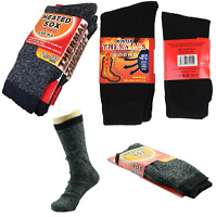 Mens Heated Thermal Socks 2.13 TOG Thick Long Warm Outdoor Work Boot Sock 3 Size