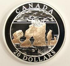 2004 Canada $20 Silver Proof Coin Hopewell Rocks Natural Wonders Coin+Capsule