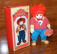 """'Li'l Chips' 7"""" Porcelain Clown Doll (1692) by Russ Berrie and Company"""