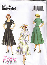 Vintage 50s Retro Rockabilly Raised Waist Princess Dress Pattern 14 16 18 20 22