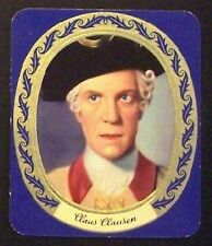 Claus Clausen 1934 Garbaty Film Star Series 2 Embossed Cigarette Card #80