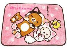 Rilakkuma fluffy Soft Warm  blanket pink  relax with Cat Rare Blanket