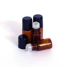 6pcs 2ml(16*35mm) Roll On Glass Amber Bottle Essential Oil Glass Roller Ball